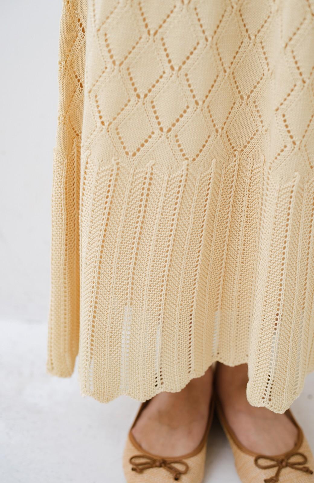 haco! 単品はもちろん重ね着してもかわいさが増す!透かし編みマーメイドスカート <アイボリー>の商品写真12