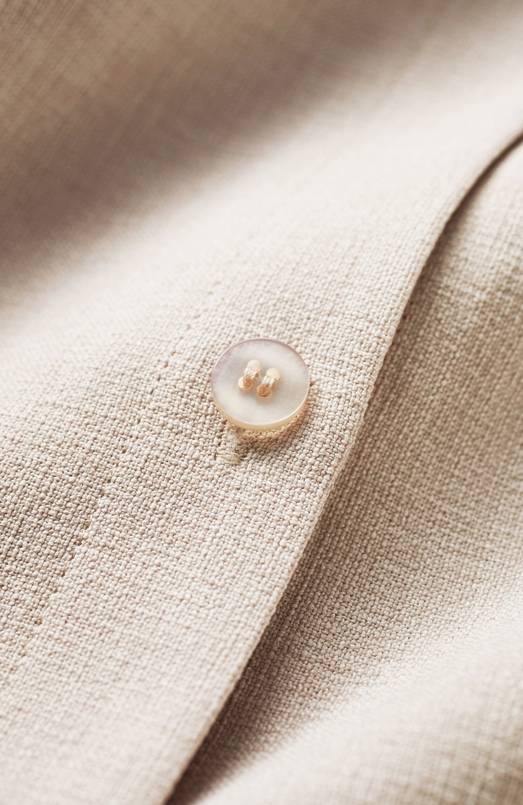 haco! 肩こり知らず!カーデぐらい気軽に羽織れる麻調素材のロングコート <ベージュ>の商品写真6