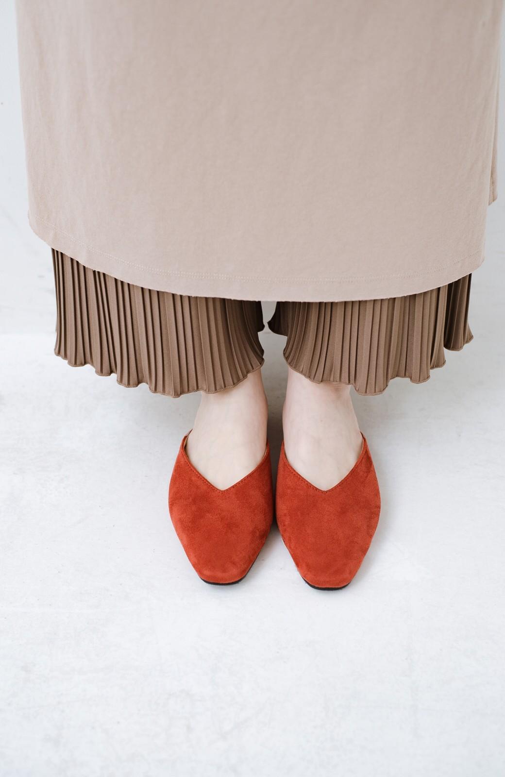 haco! もう玄関でもたつかない!パッと履けて女っぽいフラットミュールパンプス <オレンジ>の商品写真5