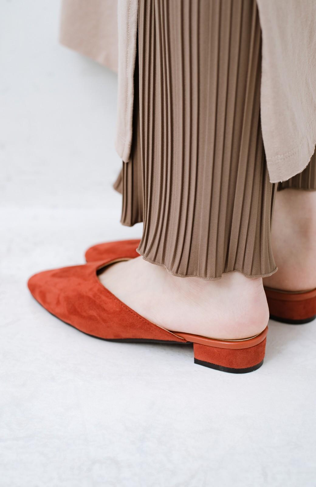 haco! もう玄関でもたつかない!パッと履けて女っぽいフラットミュールパンプス <オレンジ>の商品写真8