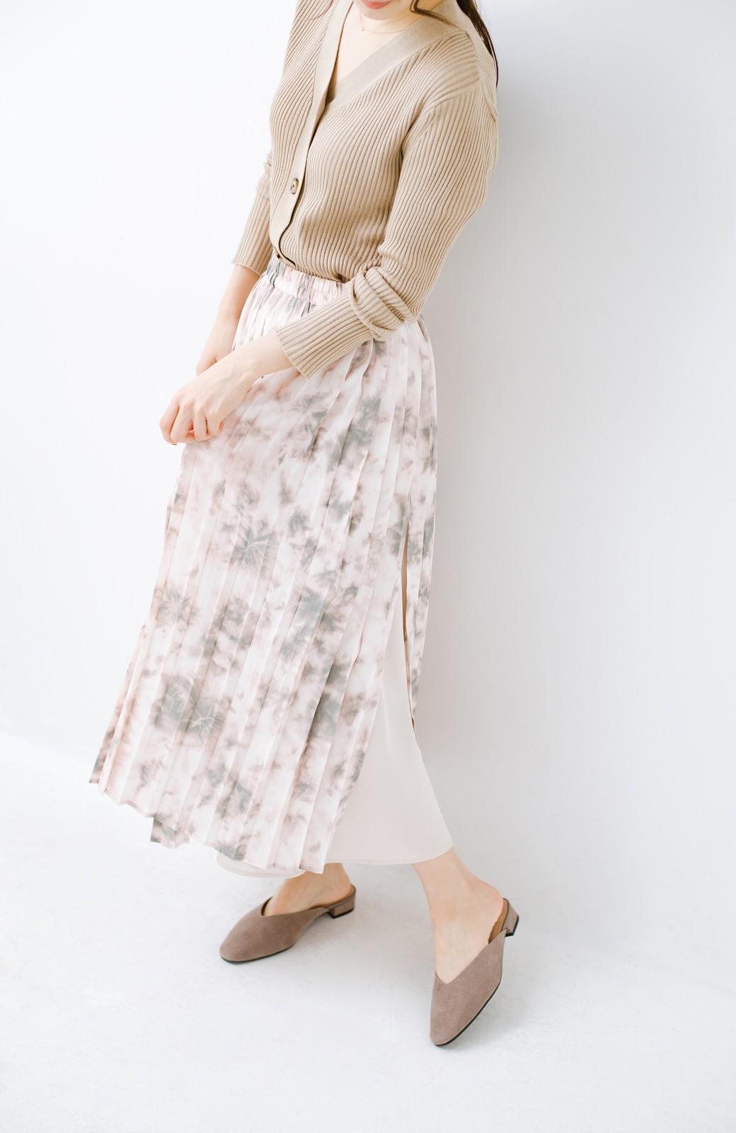 haco! もう玄関でもたつかない!パッと履けて女っぽいフラットミュールパンプス <グレイッシュベージュ>の商品写真10