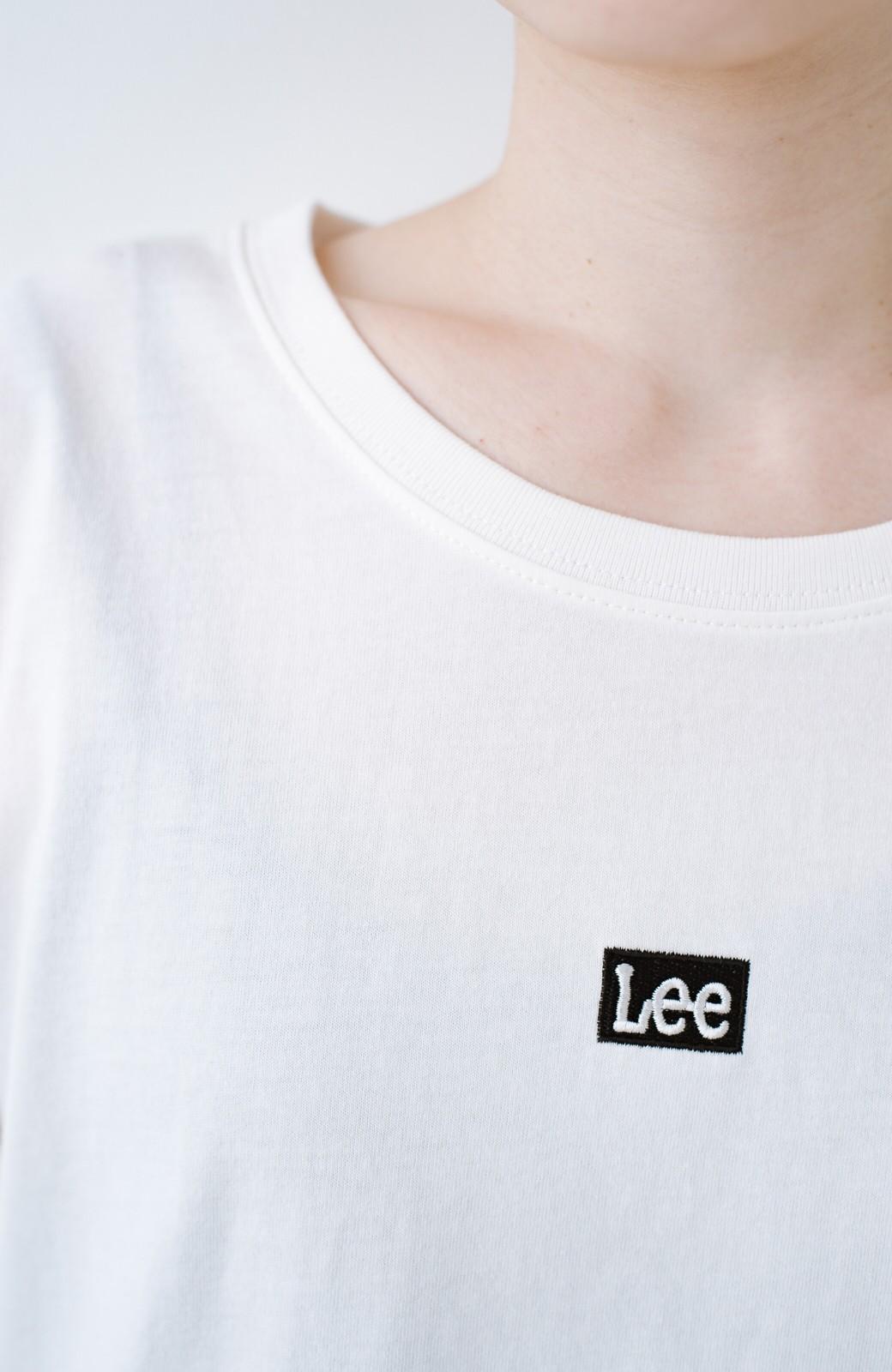 haco! 別注Lee ベルトでウエストマークしてもかわいいチュニックTシャツ <ホワイト>の商品写真4