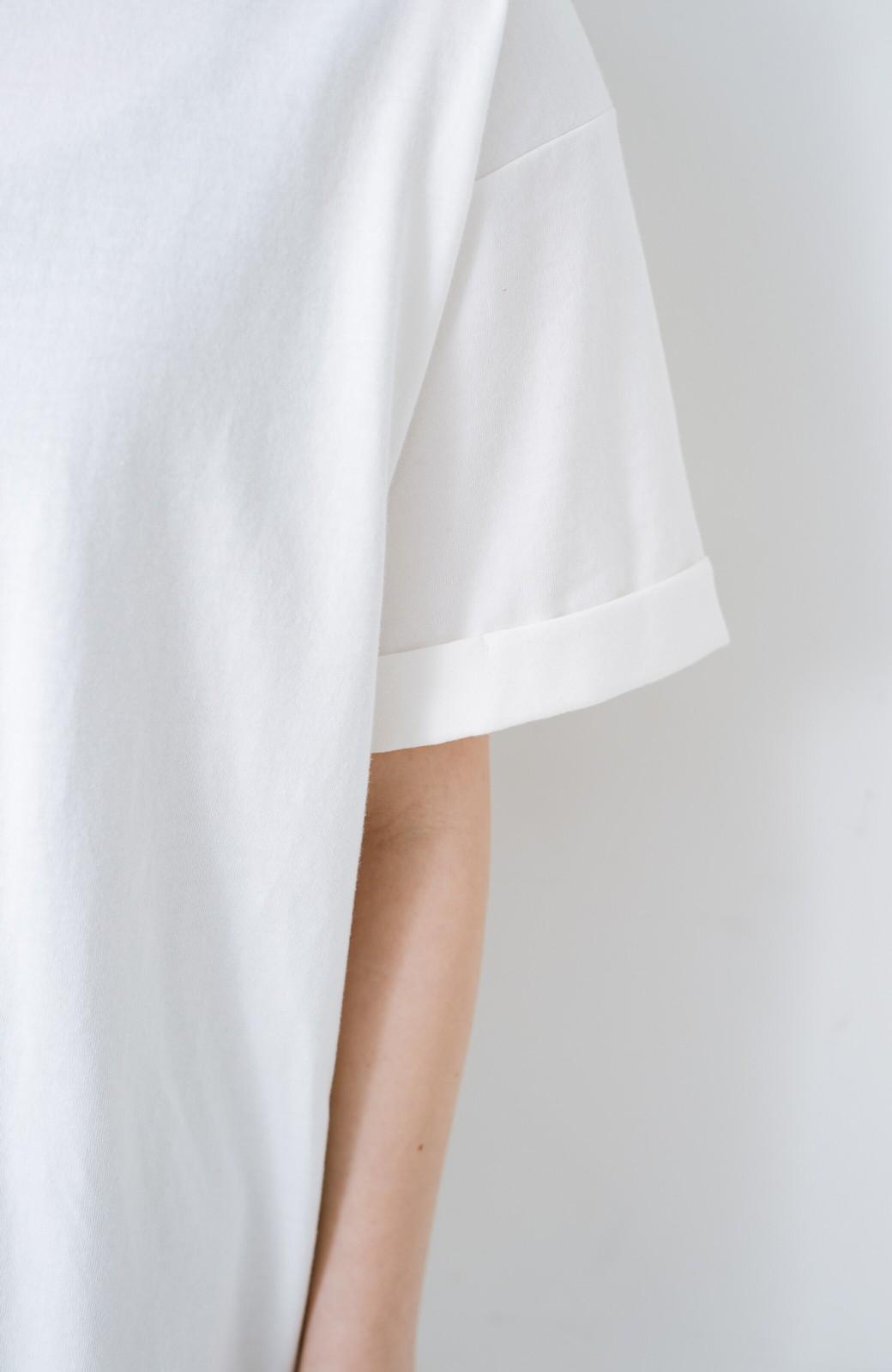 haco! 別注Lee ベルトでウエストマークしてもかわいいチュニックTシャツ <ホワイト>の商品写真5