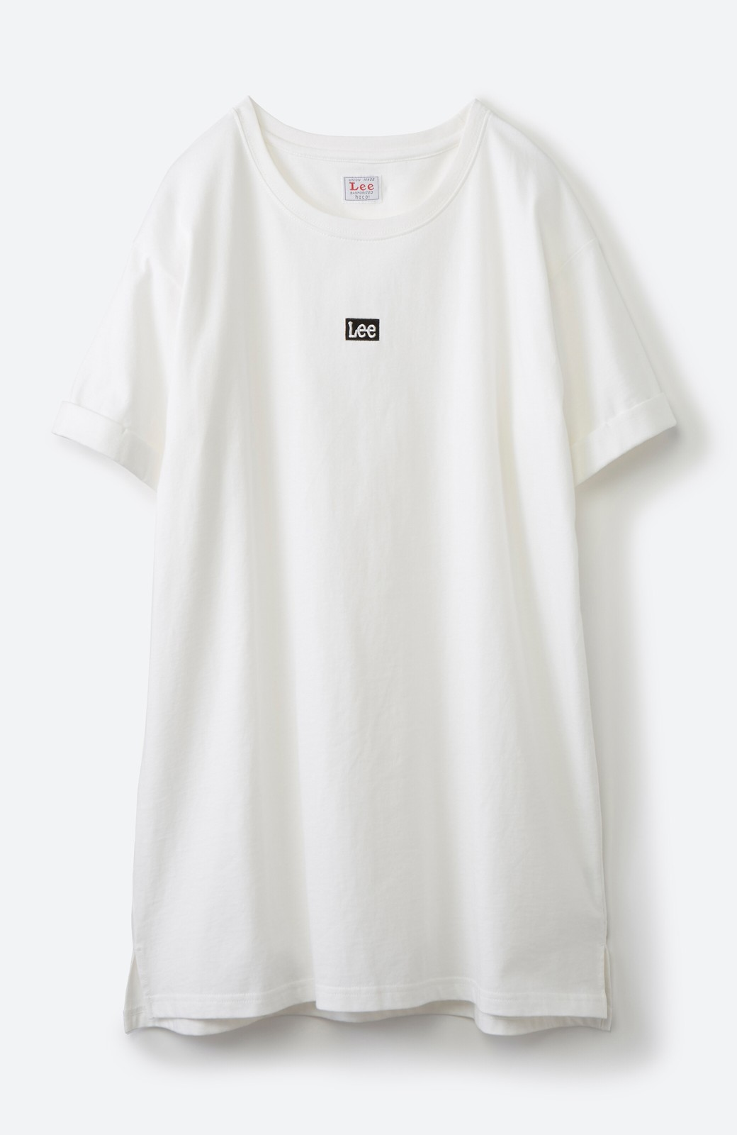 haco! 別注Lee ベルトでウエストマークしてもかわいいチュニックTシャツ <ホワイト>の商品写真17