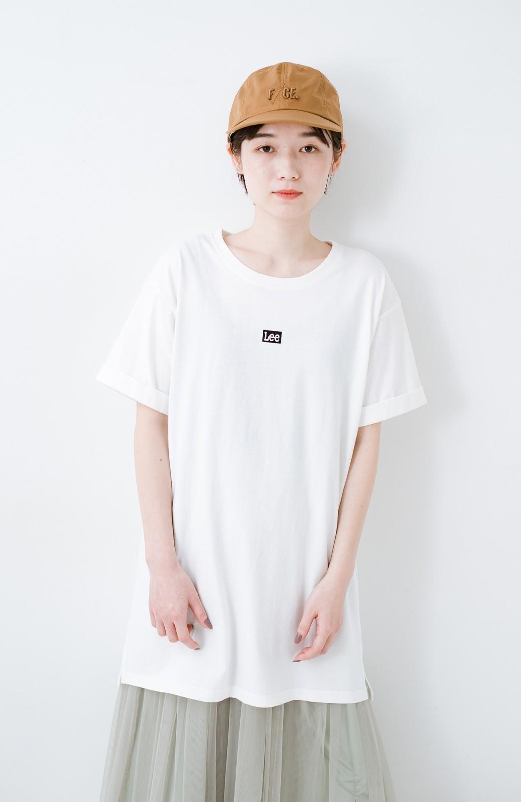 haco! 別注Lee ベルトでウエストマークしてもかわいいチュニックTシャツ <ホワイト>の商品写真11