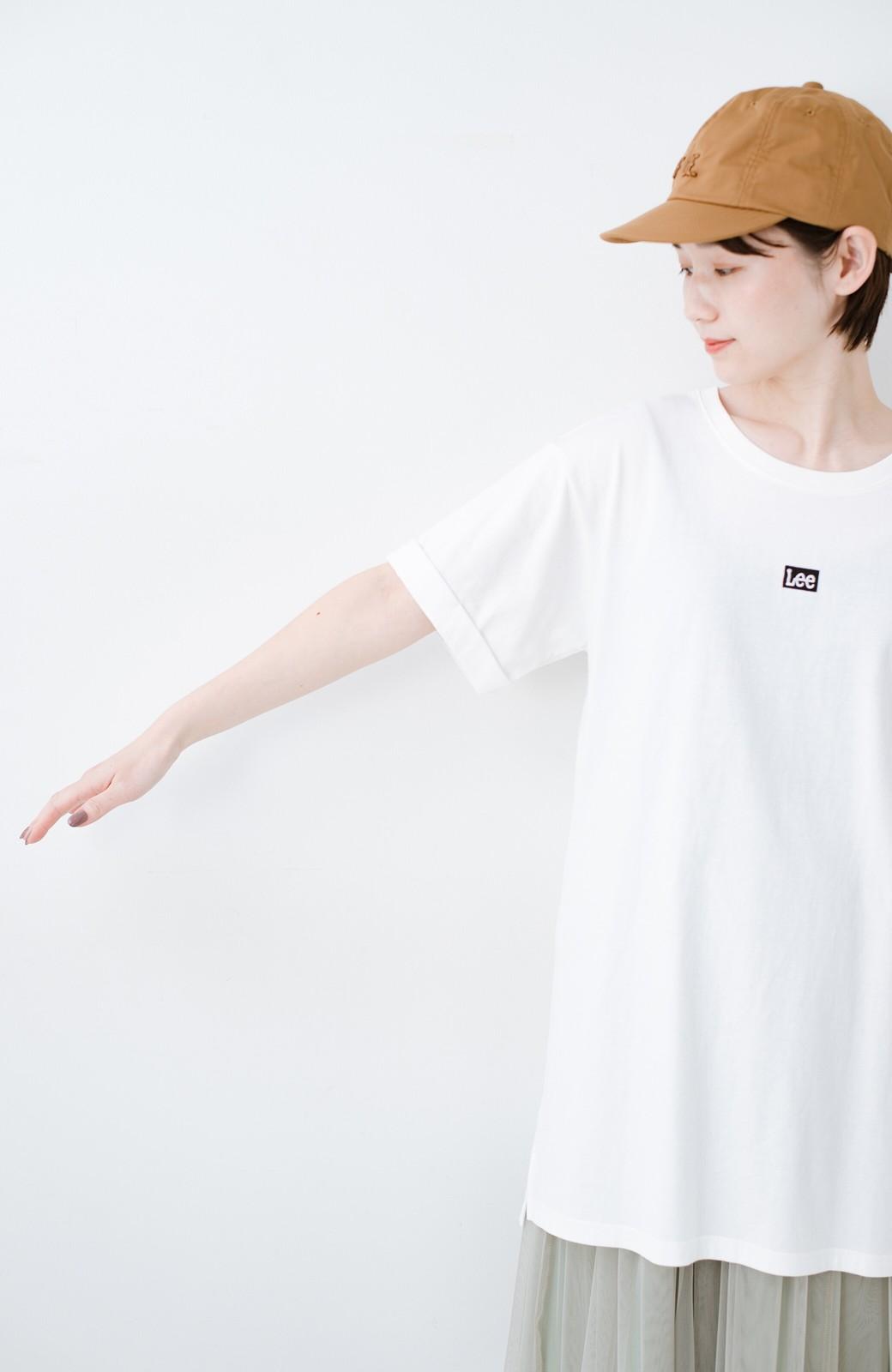 haco! 別注Lee ベルトでウエストマークしてもかわいいチュニックTシャツ <ホワイト>の商品写真7