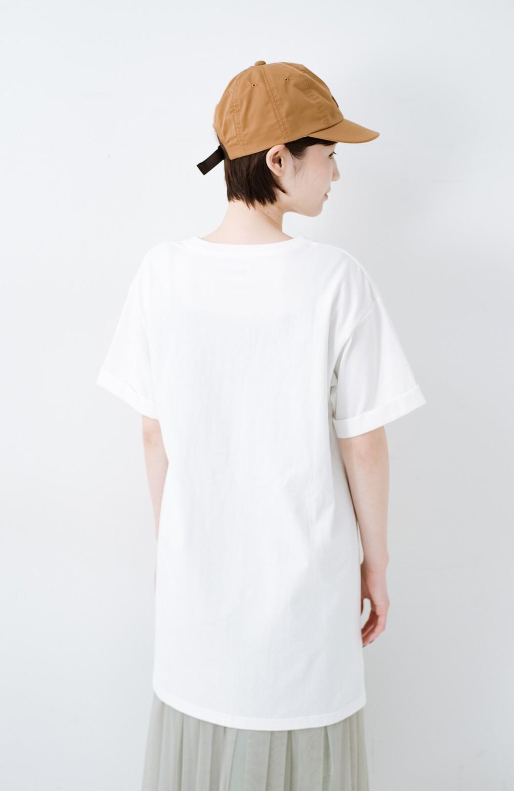haco! 別注Lee ベルトでウエストマークしてもかわいいチュニックTシャツ <ホワイト>の商品写真15