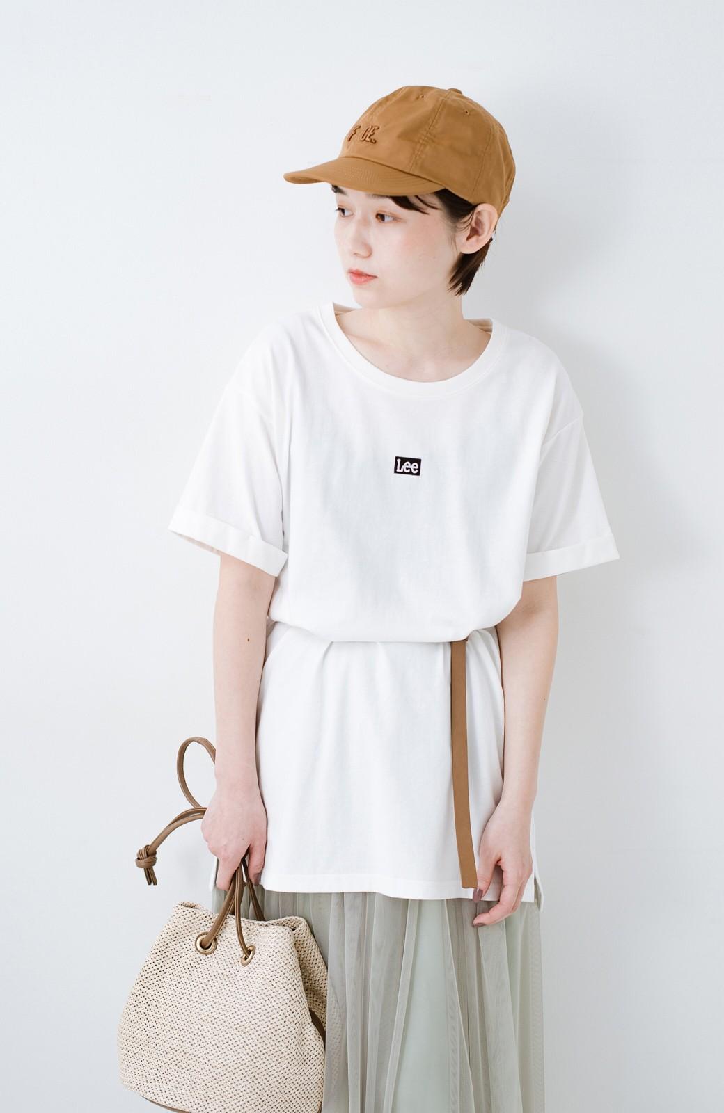 haco! 別注Lee ベルトでウエストマークしてもかわいいチュニックTシャツ <ホワイト>の商品写真16