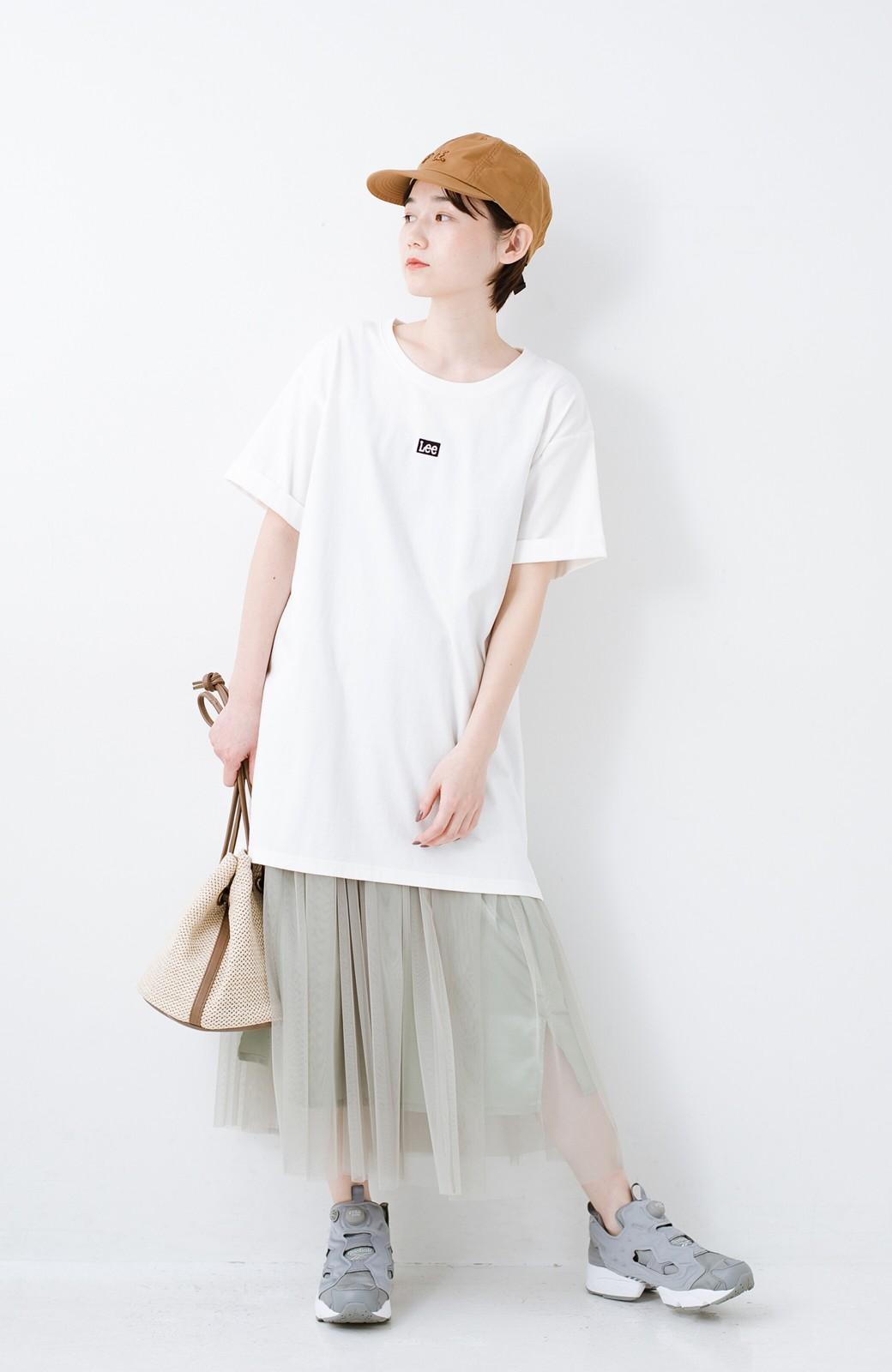 haco! 別注Lee ベルトでウエストマークしてもかわいいチュニックTシャツ <ホワイト>の商品写真6