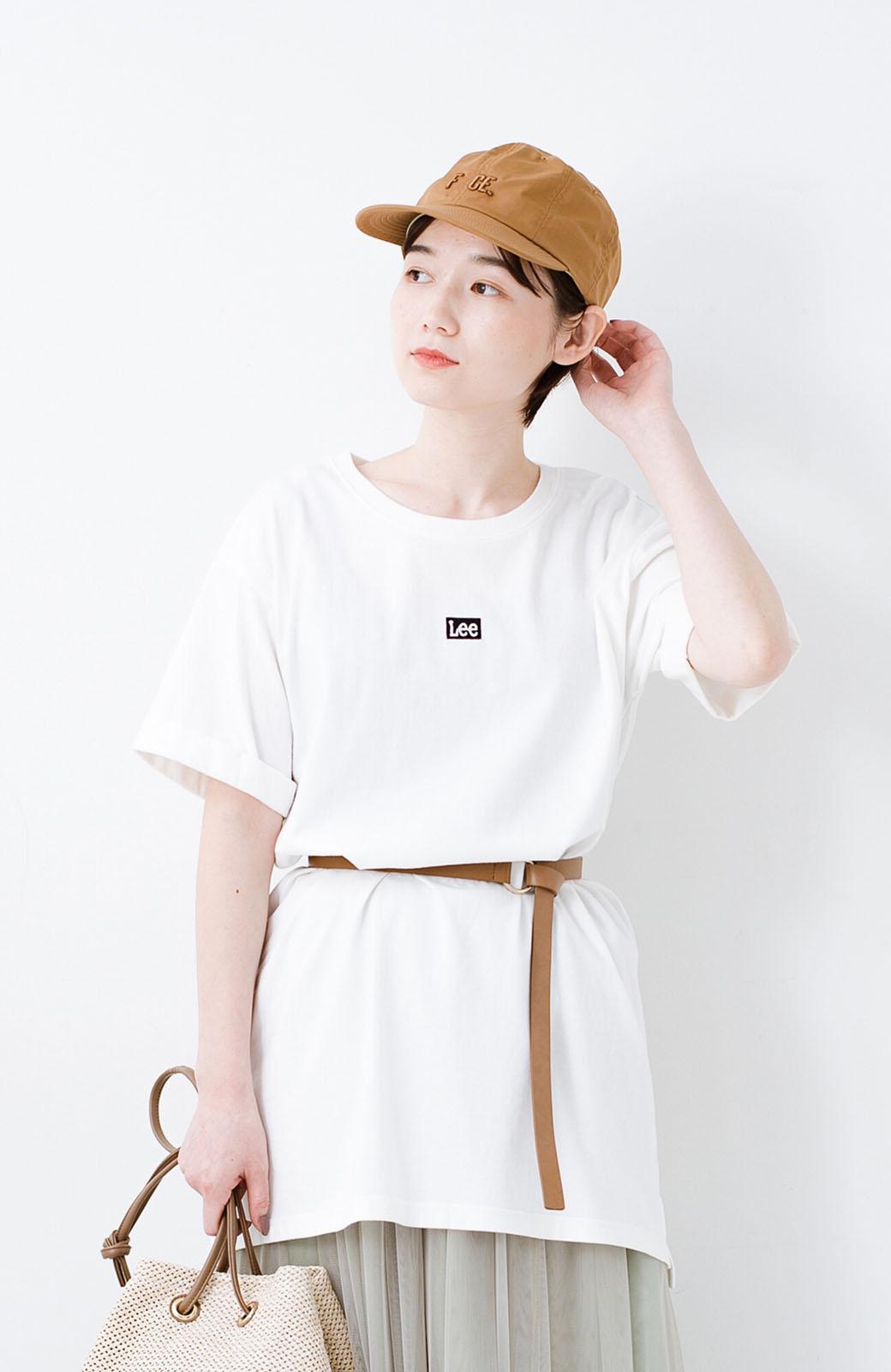 haco! 別注Lee ベルトでウエストマークしてもかわいいチュニックTシャツ <ホワイト>の商品写真3