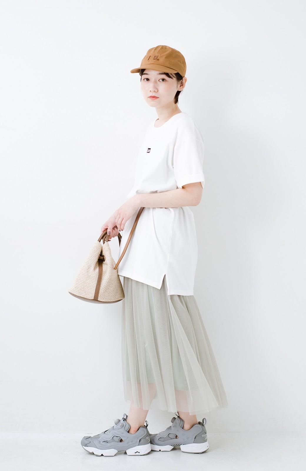 haco! 別注Lee ベルトでウエストマークしてもかわいいチュニックTシャツ <ホワイト>の商品写真10