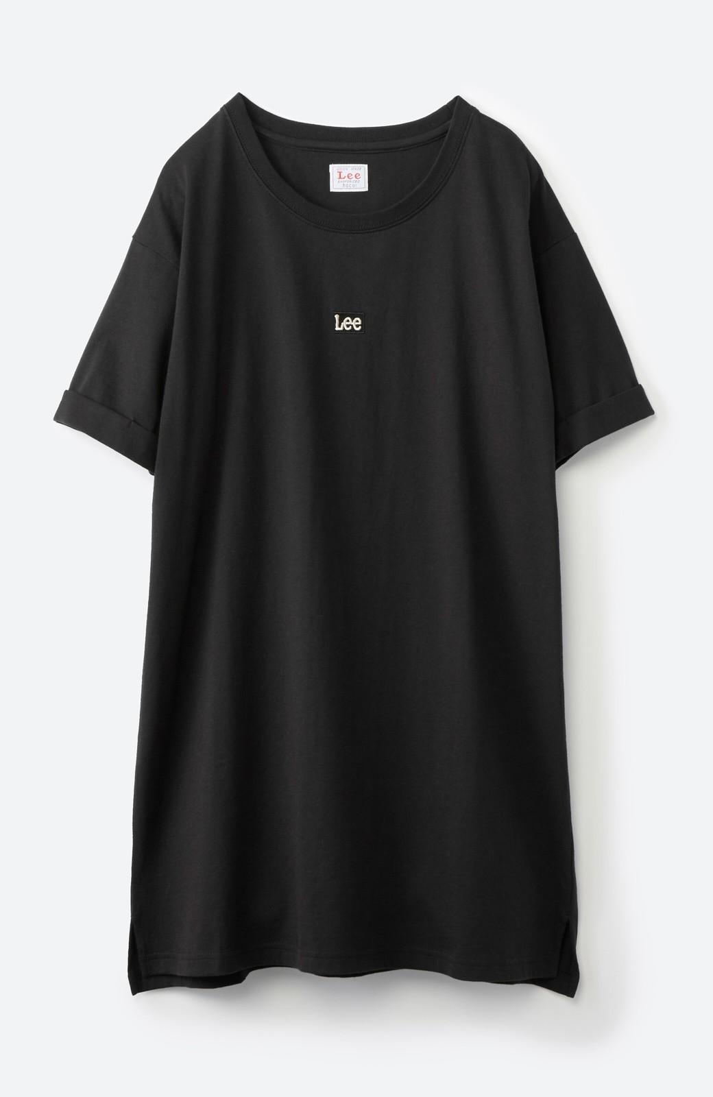 haco! 別注Lee ベルトでウエストマークしてもかわいいチュニックTシャツ <ブラック>の商品写真15
