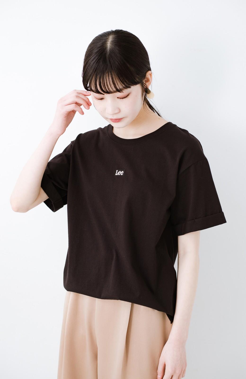haco! 別注Lee ベルトでウエストマークしてもかわいいチュニックTシャツ <ブラック>の商品写真9