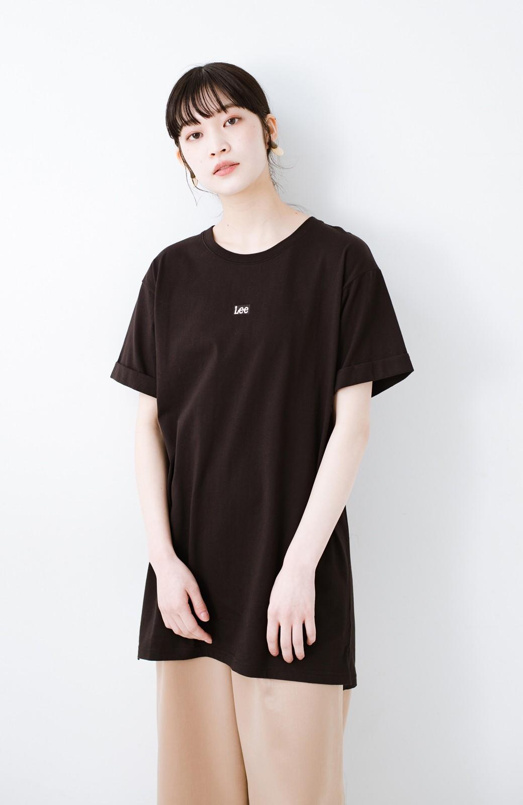 haco! 別注Lee ベルトでウエストマークしてもかわいいチュニックTシャツ <ブラック>の商品写真12
