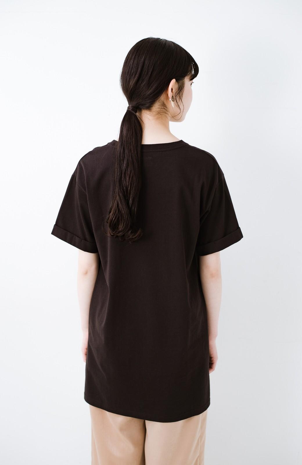 haco! 別注Lee ベルトでウエストマークしてもかわいいチュニックTシャツ <ブラック>の商品写真13