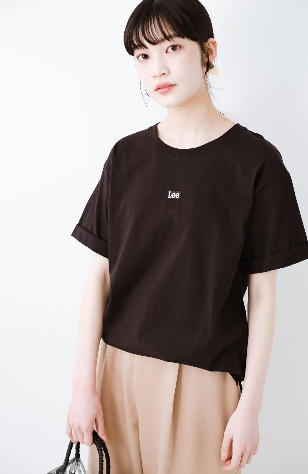 haco! 別注Lee ベルトでウエストマークしてもかわいいチュニックTシャツ <ブラック>の商品写真14
