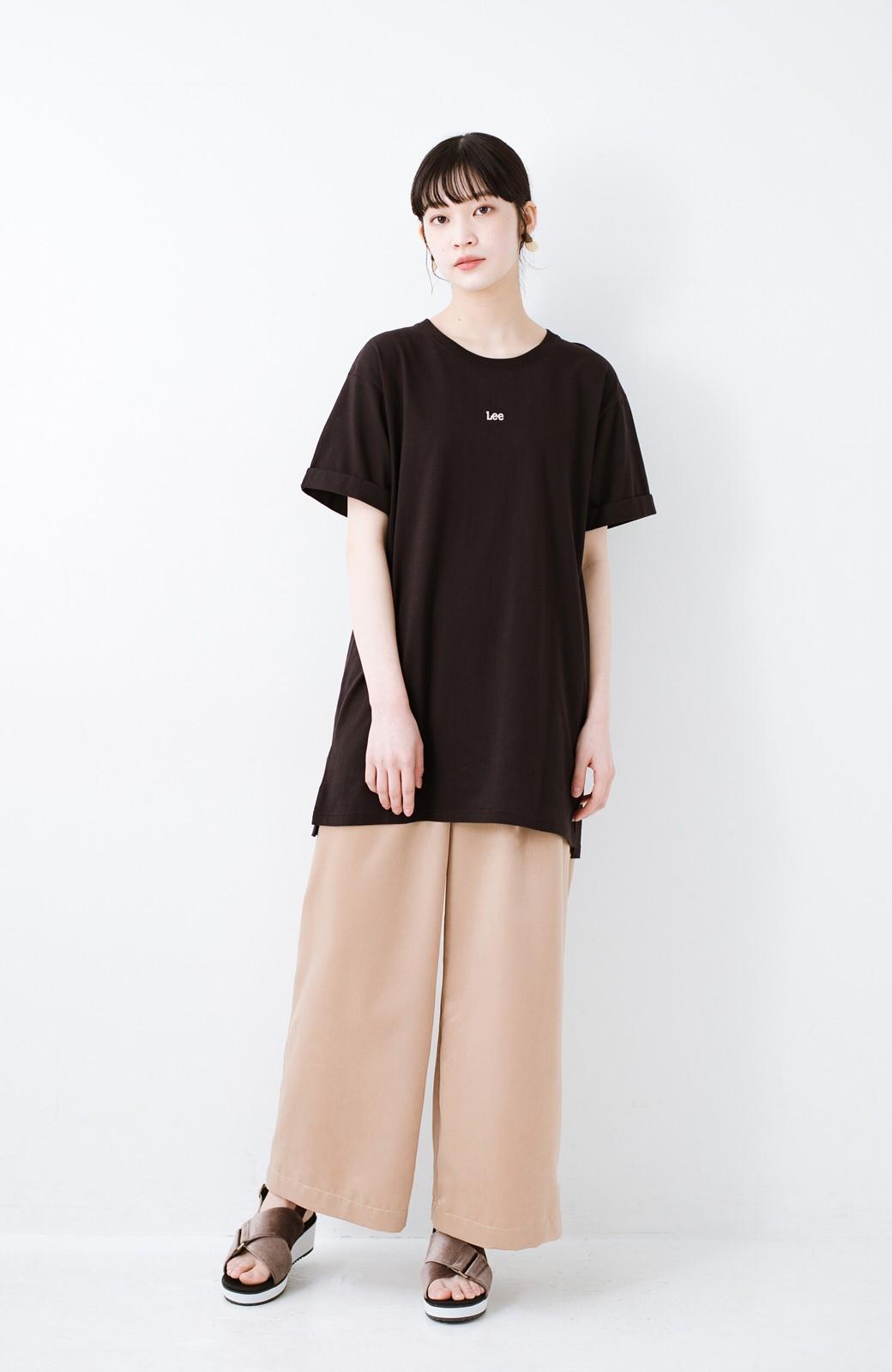 haco! 別注Lee ベルトでウエストマークしてもかわいいチュニックTシャツ <ブラック>の商品写真6