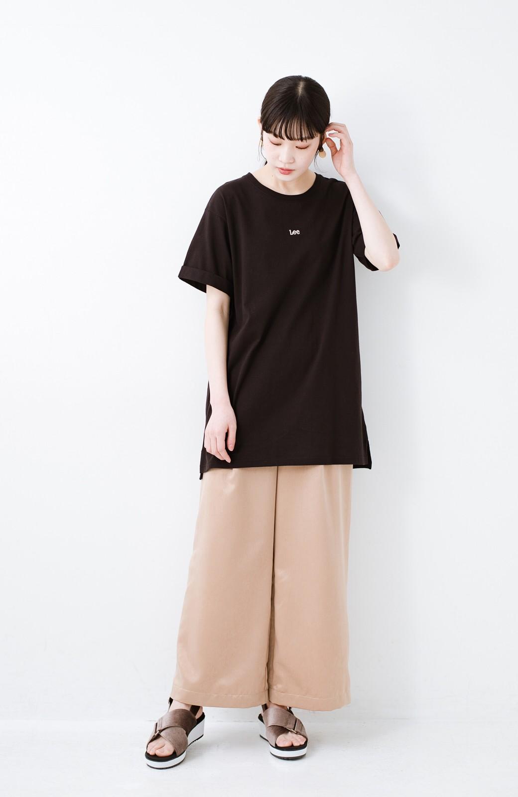 haco! 別注Lee ベルトでウエストマークしてもかわいいチュニックTシャツ <ブラック>の商品写真11