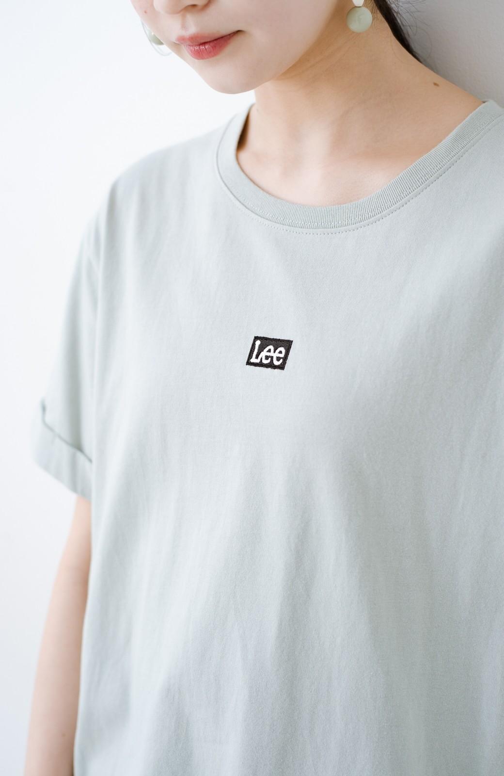 haco! 別注Lee ベルトでウエストマークしてもかわいいチュニックTシャツ <ミント>の商品写真1