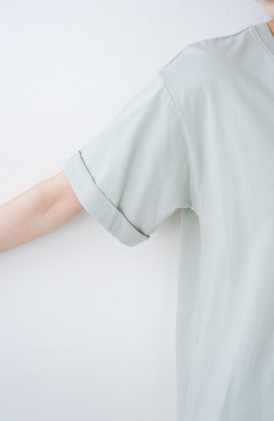 haco! 別注Lee ベルトでウエストマークしてもかわいいチュニックTシャツ <ミント>の商品写真4