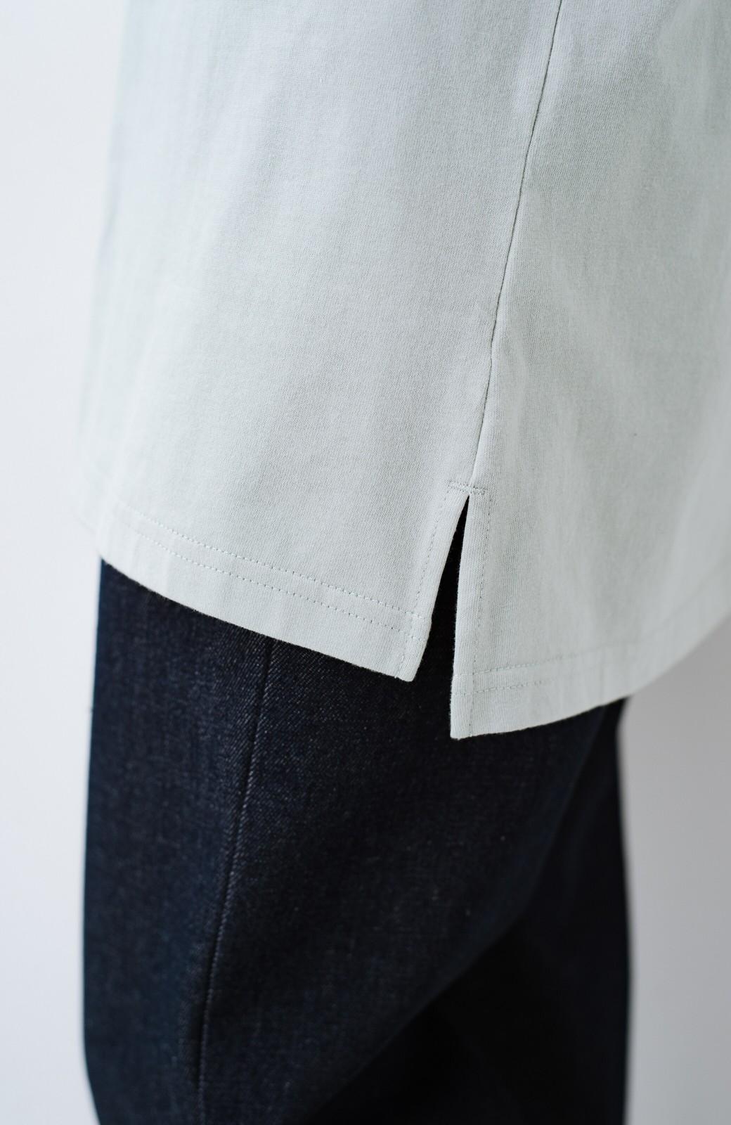 haco! 別注Lee ベルトでウエストマークしてもかわいいチュニックTシャツ <ミント>の商品写真5