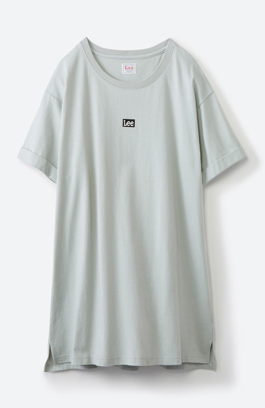 haco! 別注Lee ベルトでウエストマークしてもかわいいチュニックTシャツ <ミント>の商品写真15