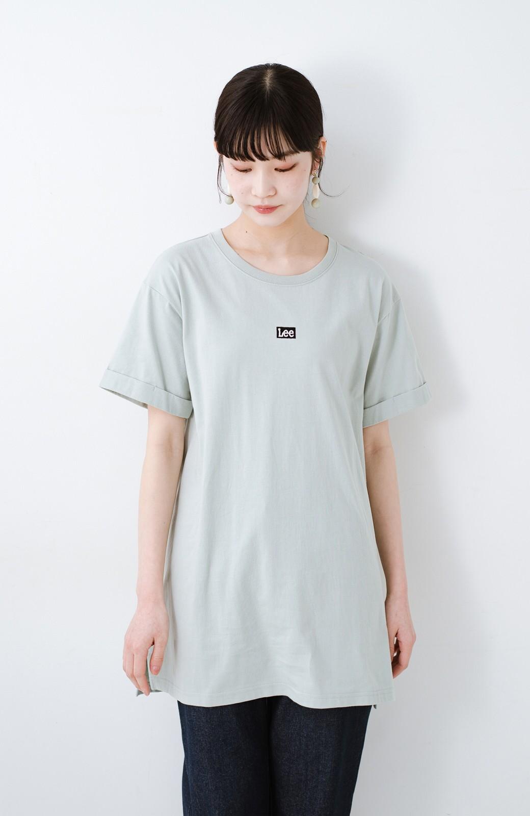 haco! 別注Lee ベルトでウエストマークしてもかわいいチュニックTシャツ <ミント>の商品写真10