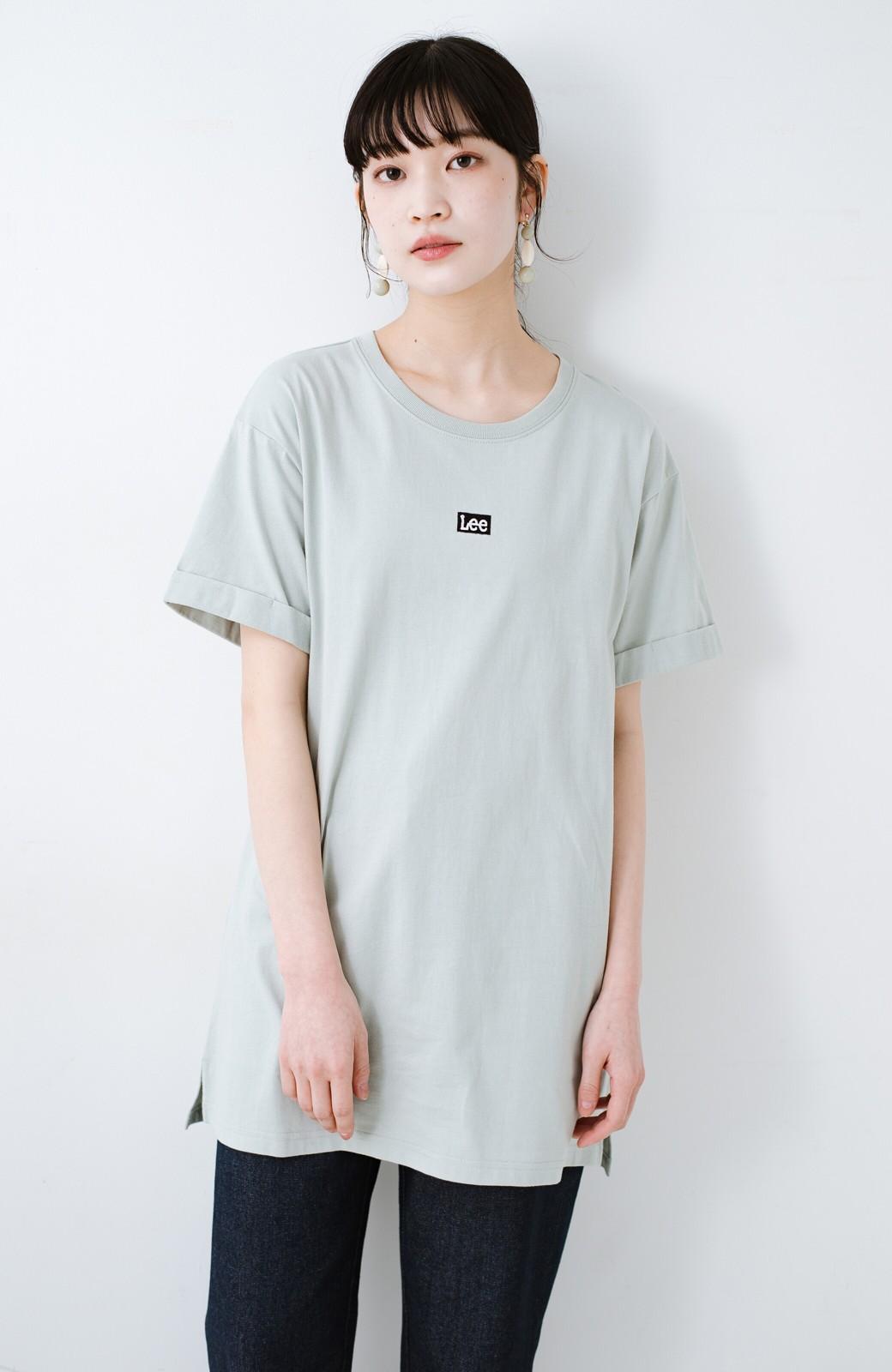 haco! 別注Lee ベルトでウエストマークしてもかわいいチュニックTシャツ <ミント>の商品写真11