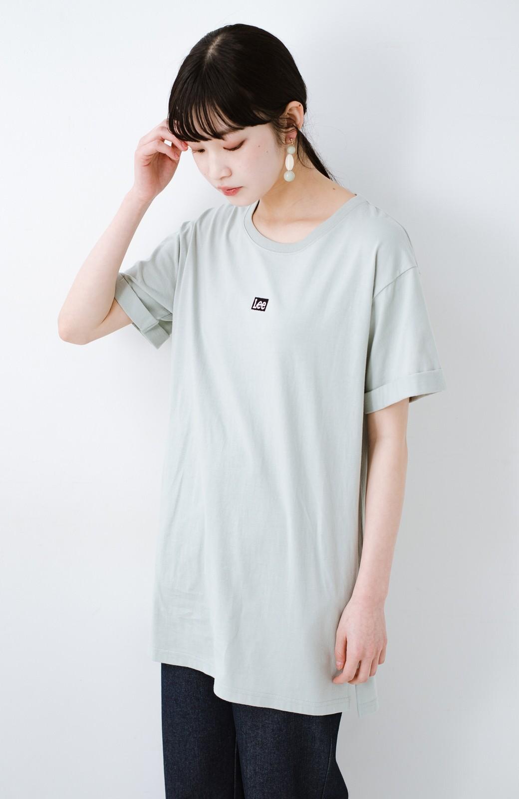haco! 別注Lee ベルトでウエストマークしてもかわいいチュニックTシャツ <ミント>の商品写真3