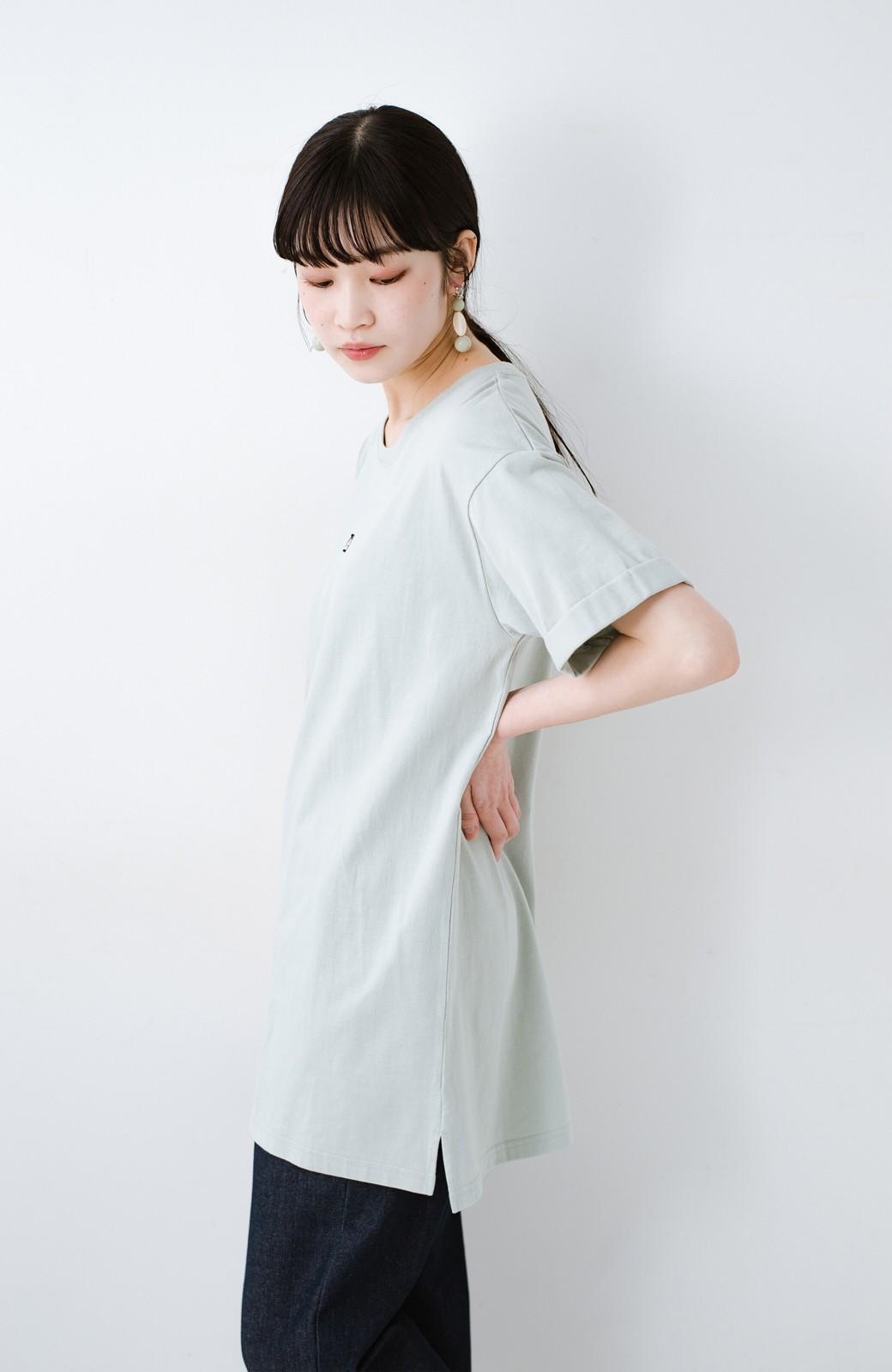 haco! 別注Lee ベルトでウエストマークしてもかわいいチュニックTシャツ <ミント>の商品写真12