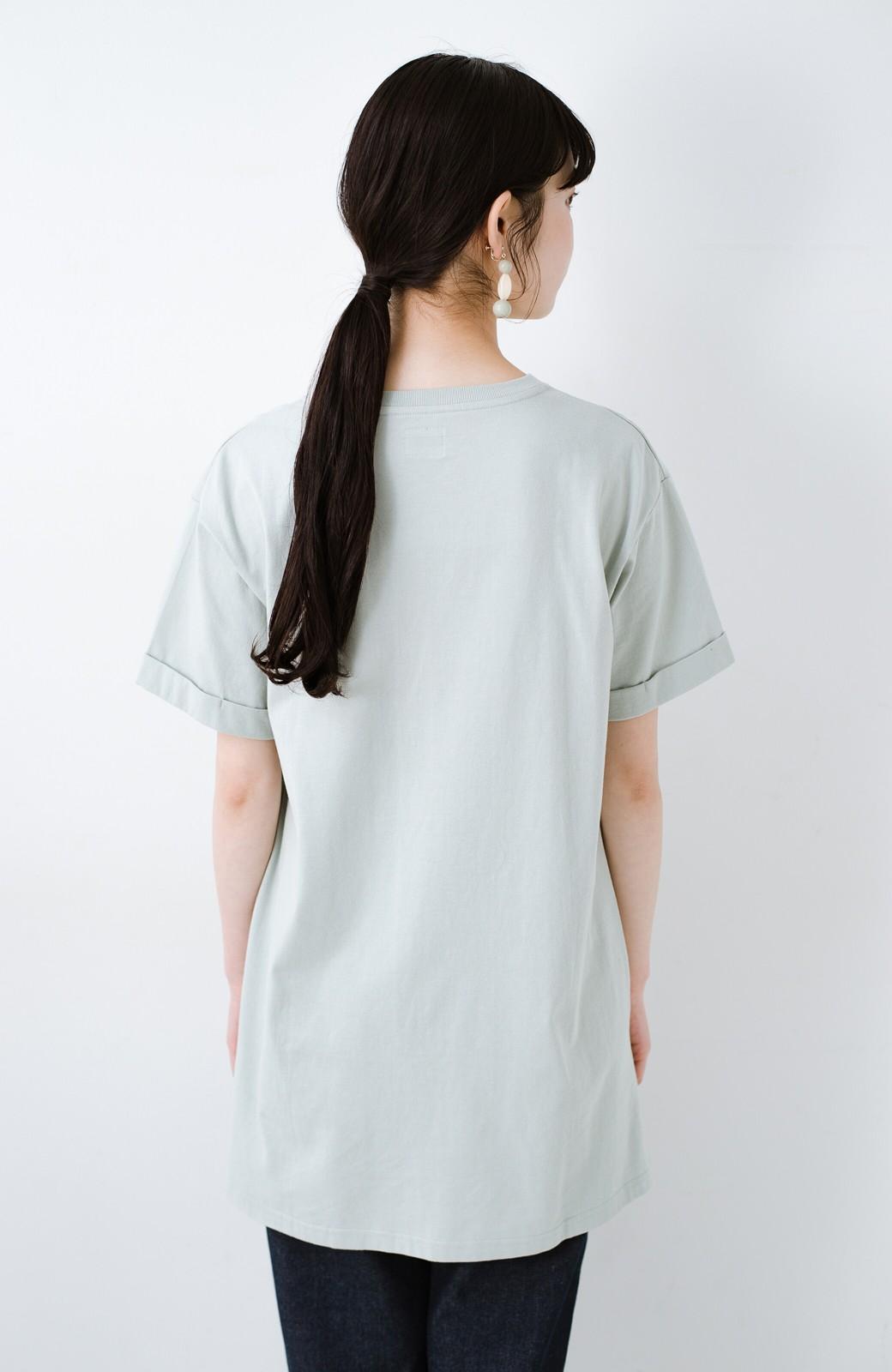 haco! 別注Lee ベルトでウエストマークしてもかわいいチュニックTシャツ <ミント>の商品写真13