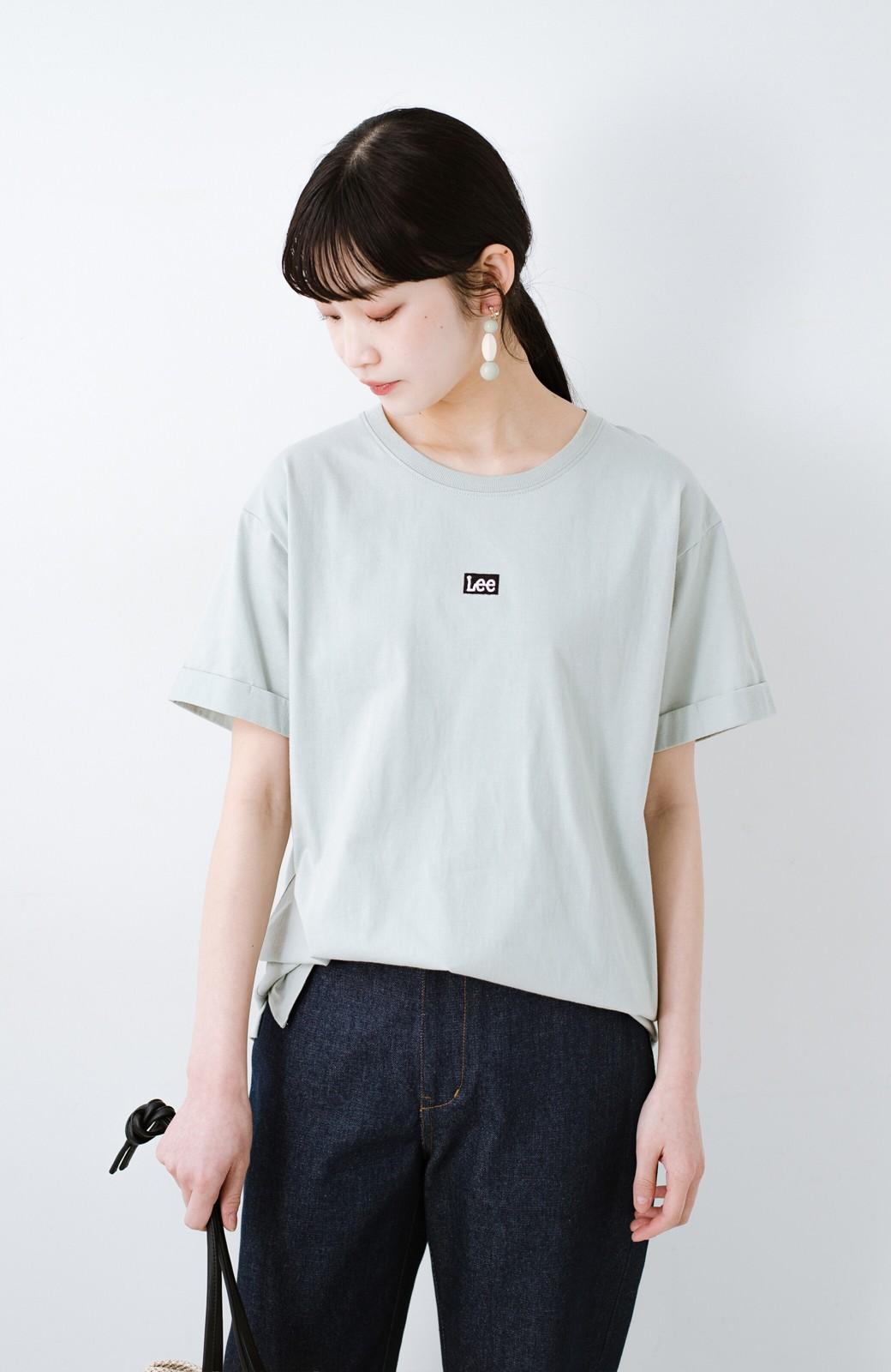 haco! 別注Lee ベルトでウエストマークしてもかわいいチュニックTシャツ <ミント>の商品写真14