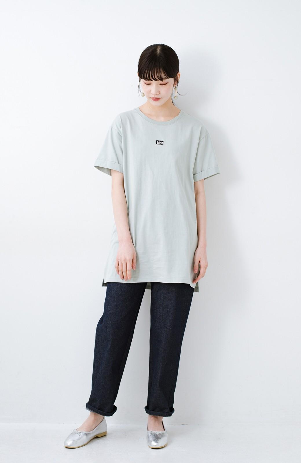 haco! 別注Lee ベルトでウエストマークしてもかわいいチュニックTシャツ <ミント>の商品写真6