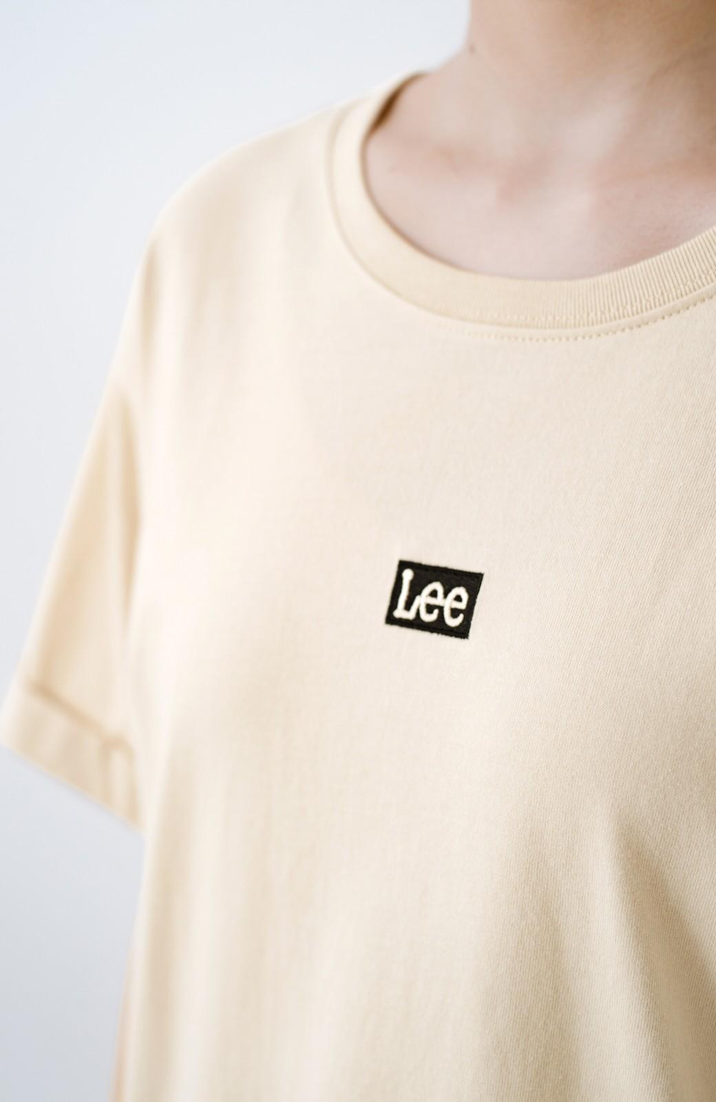 haco! 別注Lee ベルトでウエストマークしてもかわいいチュニックTシャツ <ベージュ>の商品写真3