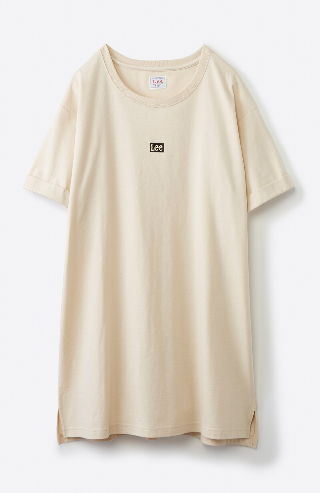 haco! 別注Lee ベルトでウエストマークしてもかわいいチュニックTシャツ <ベージュ>の商品写真15