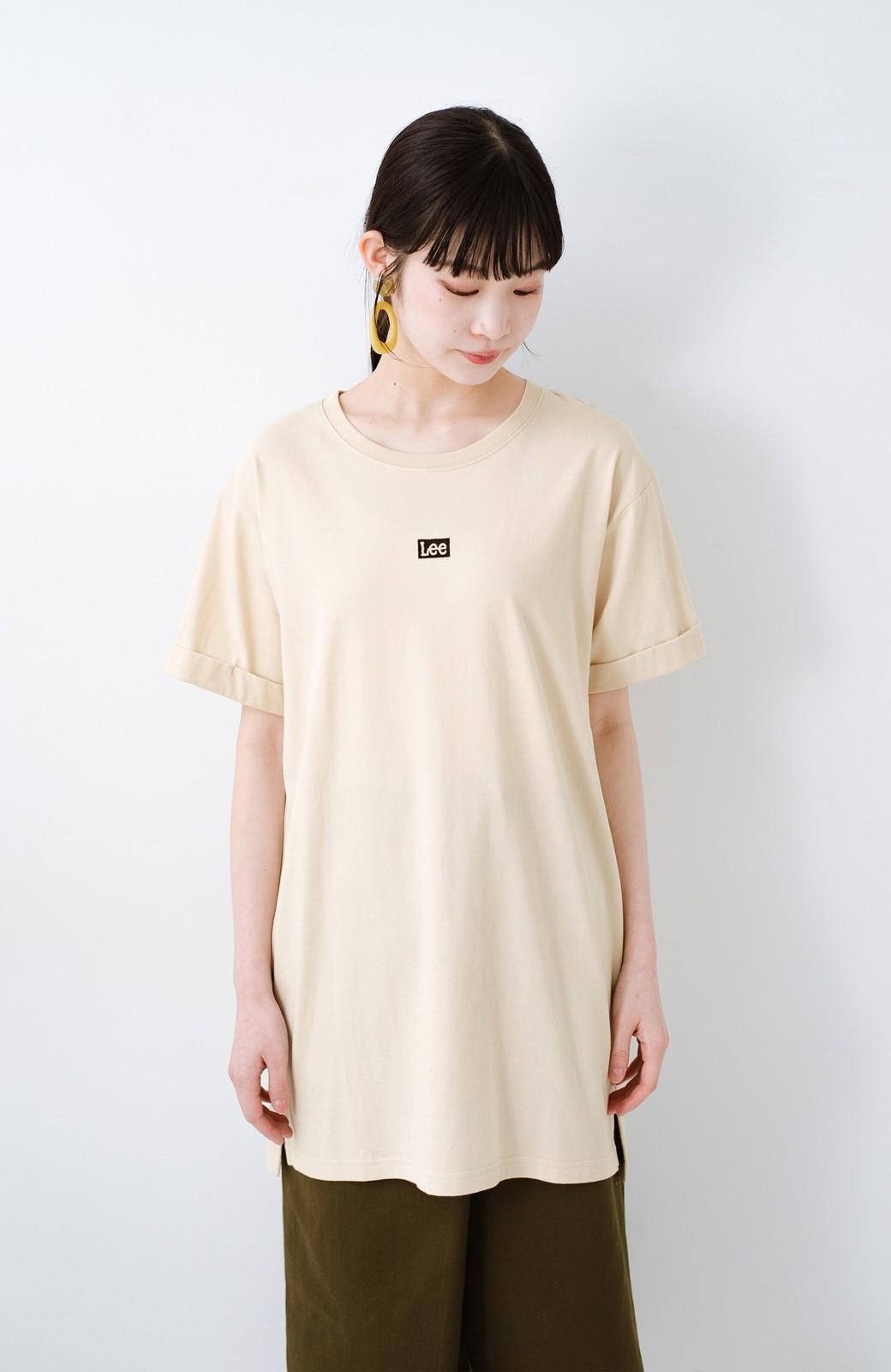 haco! 別注Lee ベルトでウエストマークしてもかわいいチュニックTシャツ <ベージュ>の商品写真12
