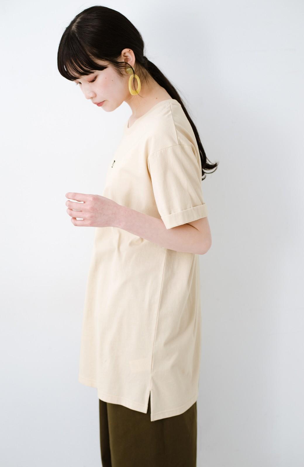 haco! 別注Lee ベルトでウエストマークしてもかわいいチュニックTシャツ <ベージュ>の商品写真13