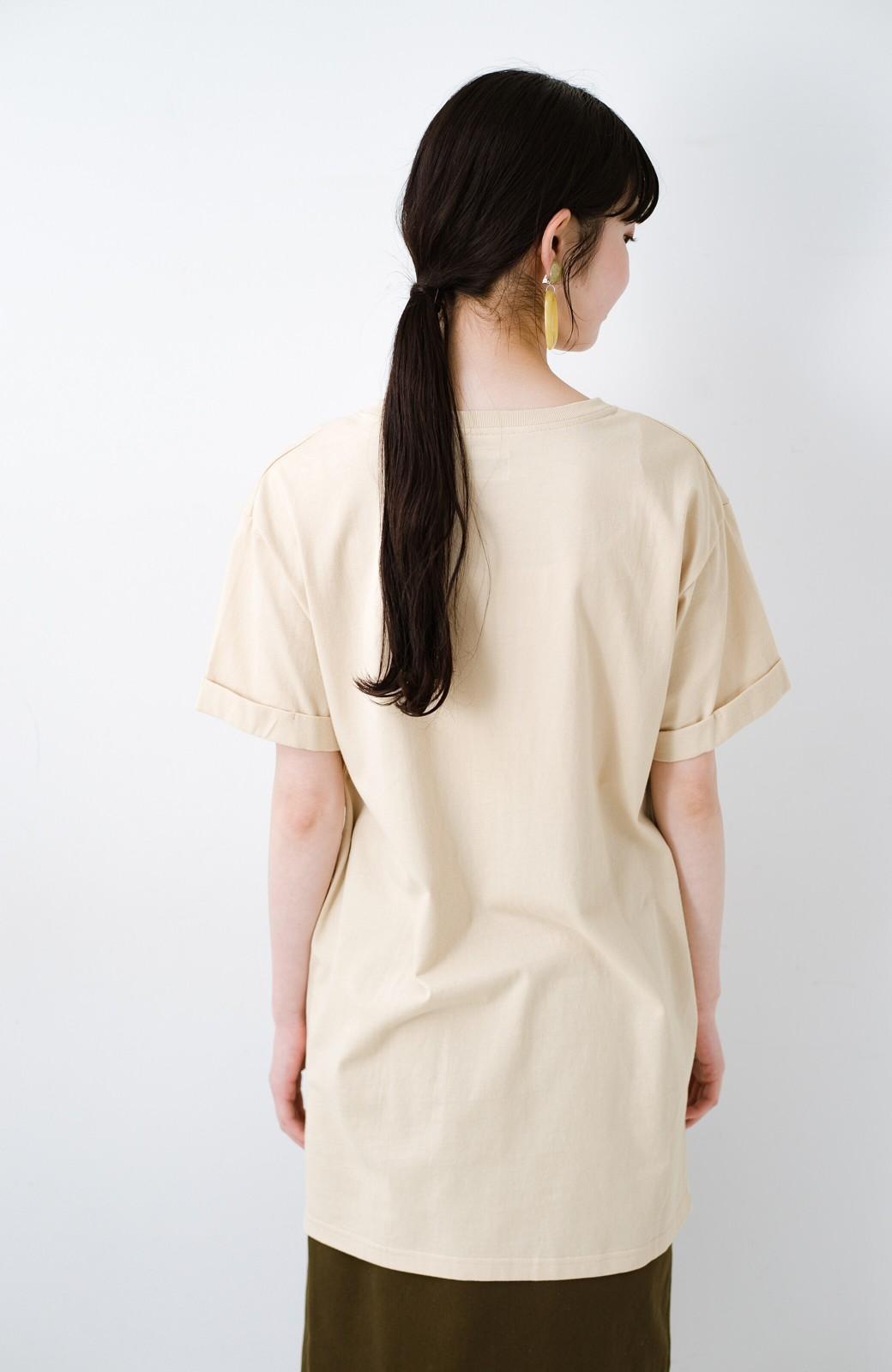 haco! 別注Lee ベルトでウエストマークしてもかわいいチュニックTシャツ <ベージュ>の商品写真14