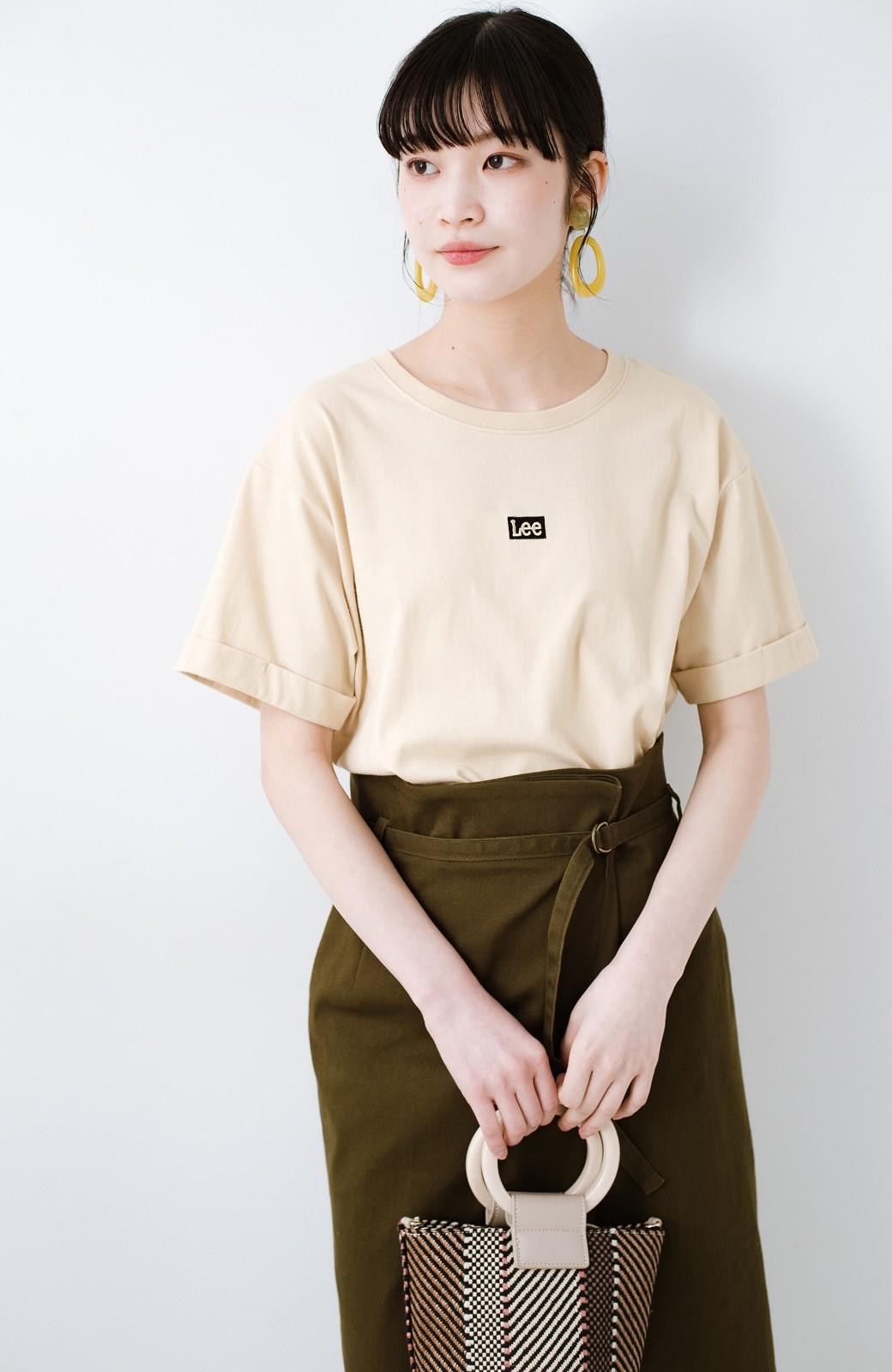 haco! 別注Lee ベルトでウエストマークしてもかわいいチュニックTシャツ <ベージュ>の商品写真1