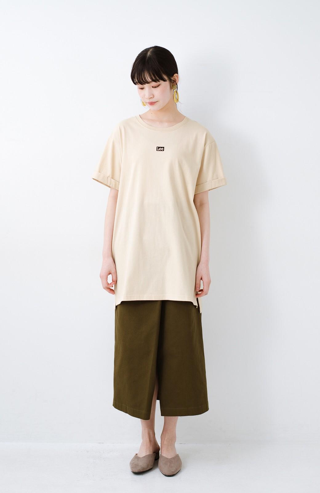 haco! 別注Lee ベルトでウエストマークしてもかわいいチュニックTシャツ <ベージュ>の商品写真6