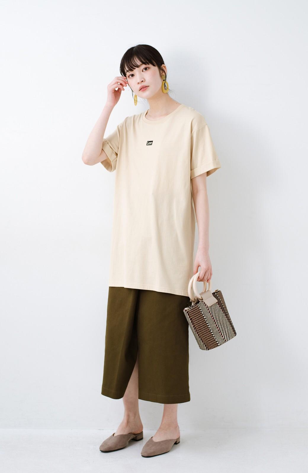 haco! 別注Lee ベルトでウエストマークしてもかわいいチュニックTシャツ <ベージュ>の商品写真7