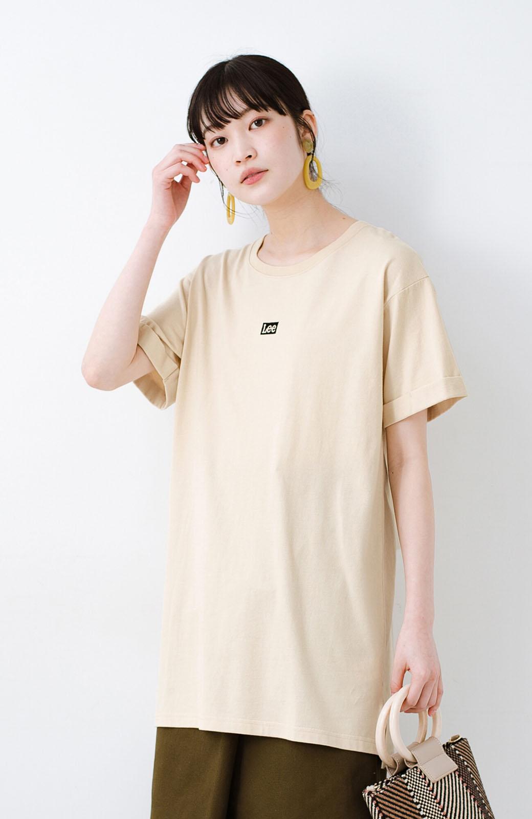 haco! 別注Lee ベルトでウエストマークしてもかわいいチュニックTシャツ <ベージュ>の商品写真11