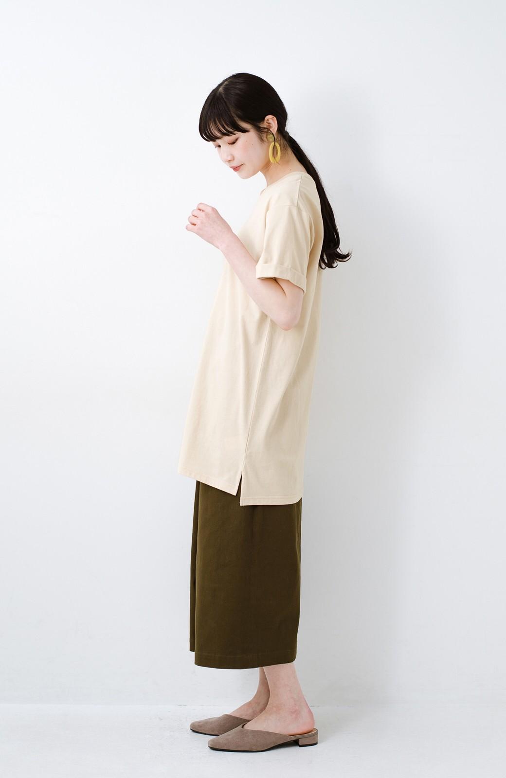 haco! 別注Lee ベルトでウエストマークしてもかわいいチュニックTシャツ <ベージュ>の商品写真9