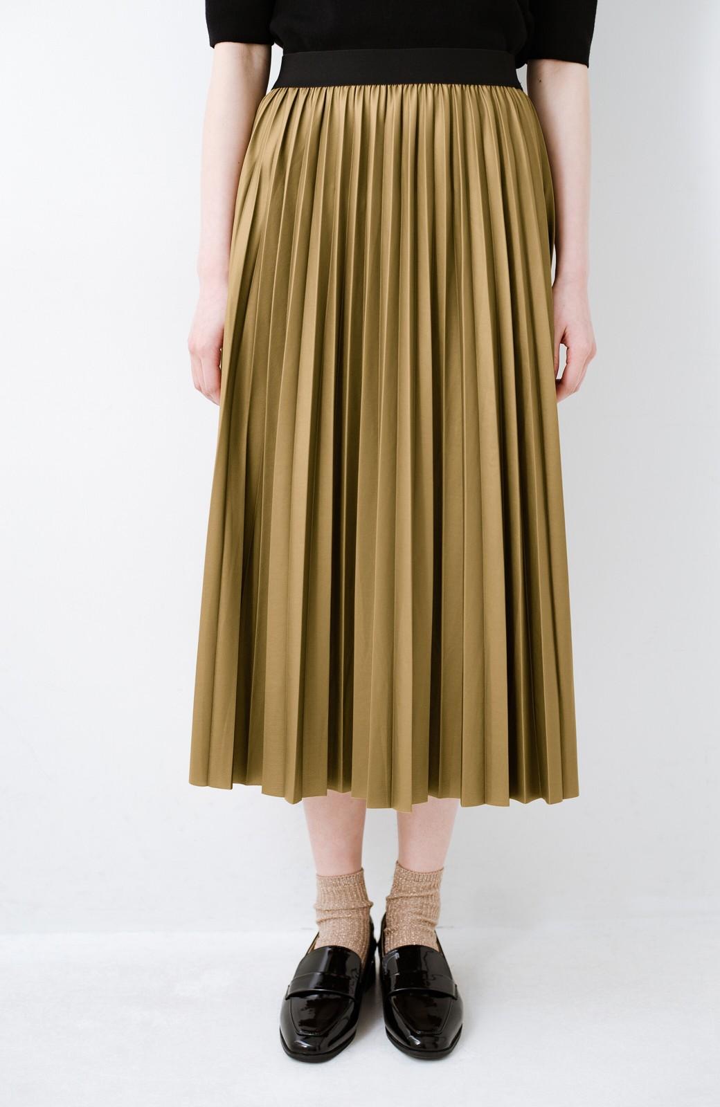 haco! コーデが一気に引き締まるフェイクレザー風プリーツスカート by laulea  <マスタード>の商品写真2