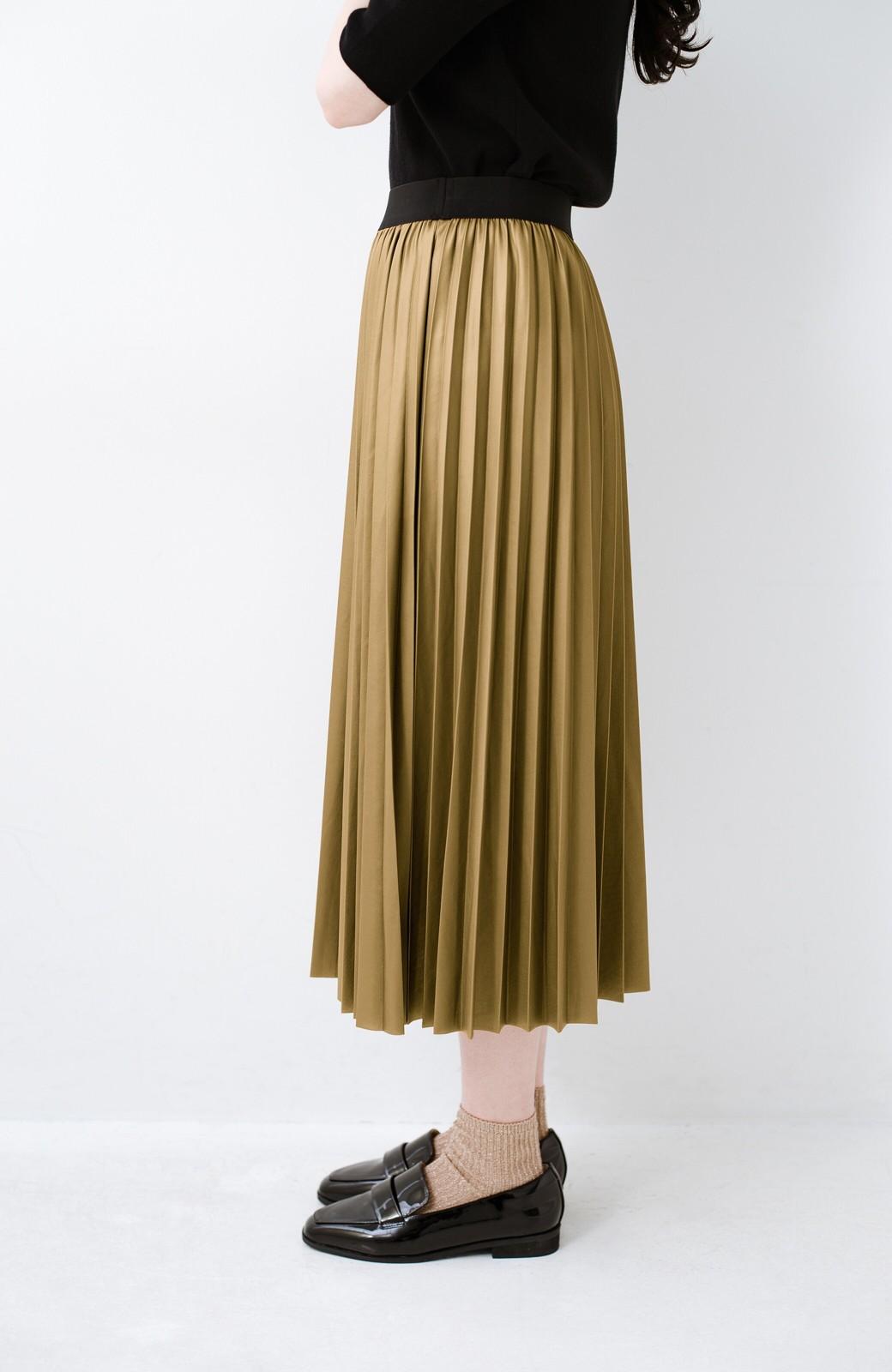 haco! コーデが一気に引き締まるフェイクレザー風プリーツスカート by laulea  <マスタード>の商品写真4