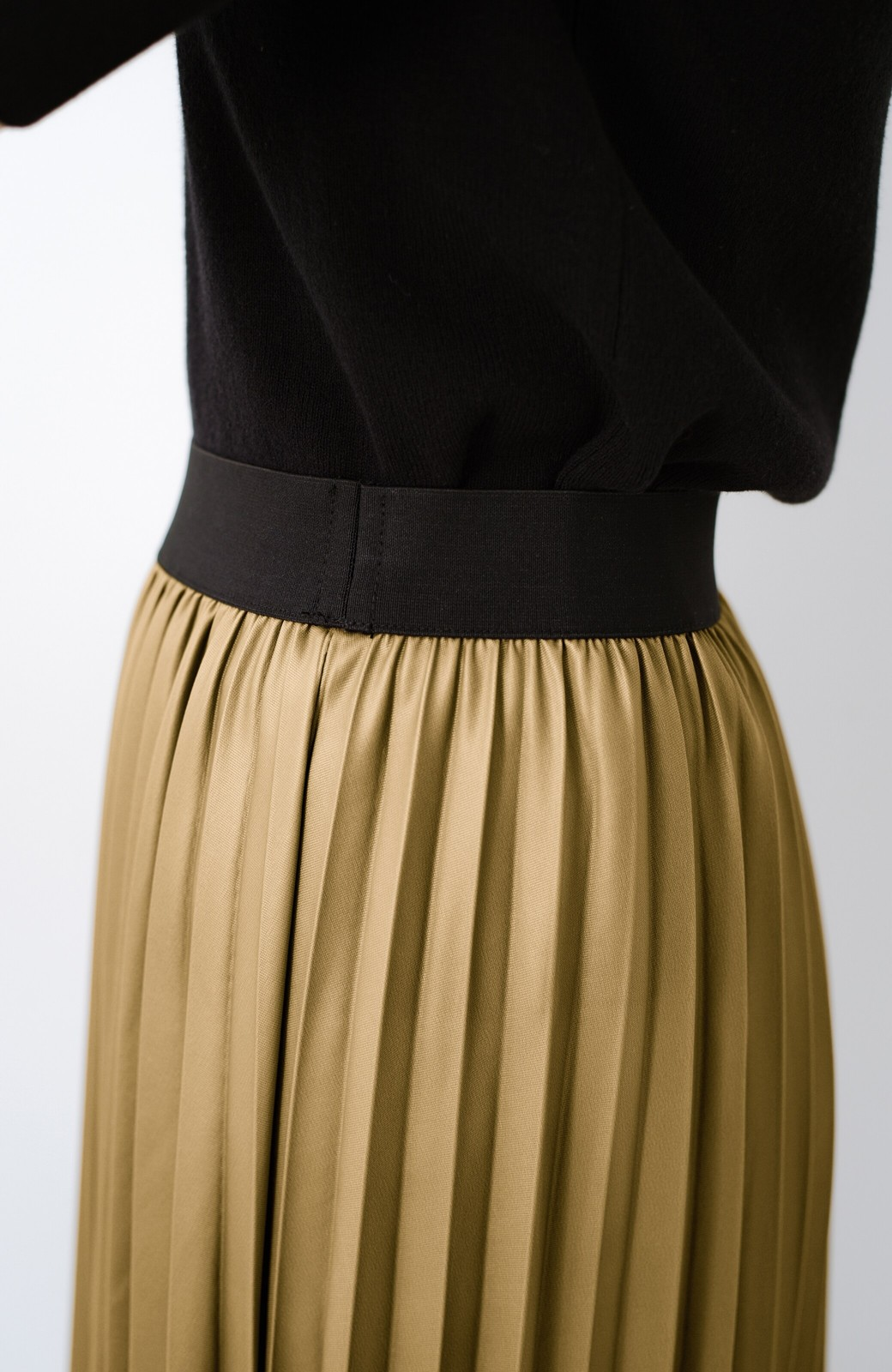 haco! コーデが一気に引き締まるフェイクレザー風プリーツスカート by laulea  <マスタード>の商品写真6