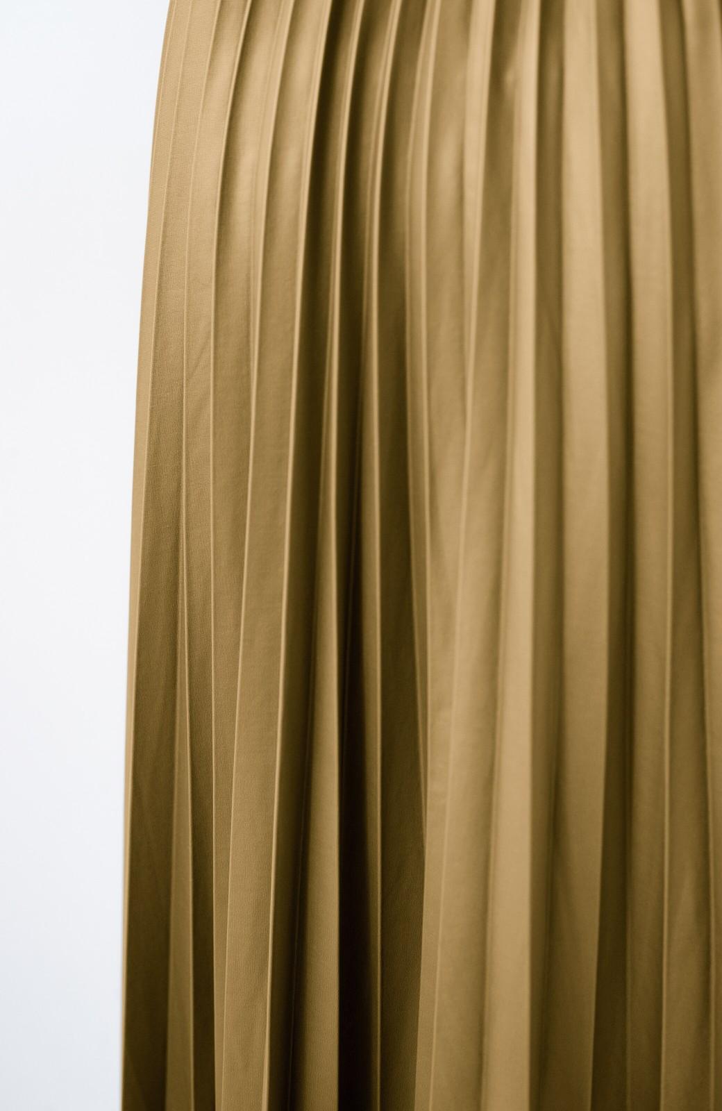haco! コーデが一気に引き締まるフェイクレザー風プリーツスカート by laulea  <マスタード>の商品写真7