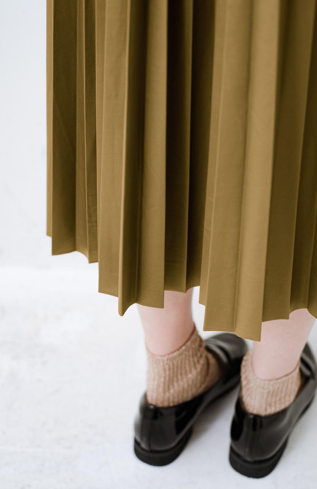 haco! コーデが一気に引き締まるフェイクレザー風プリーツスカート by laulea  <マスタード>の商品写真8