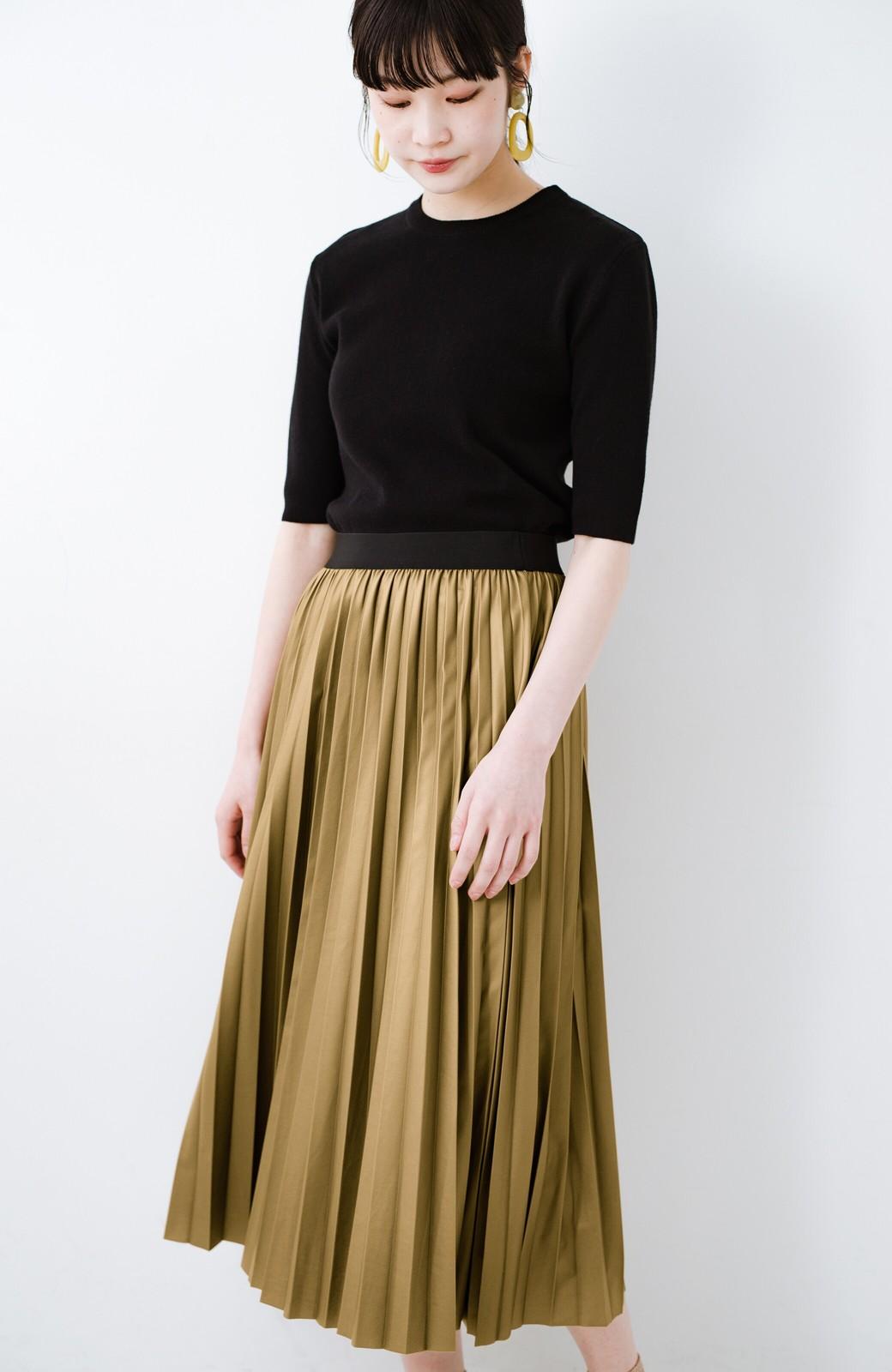 haco! コーデが一気に引き締まるフェイクレザー風プリーツスカート by laulea  <マスタード>の商品写真14