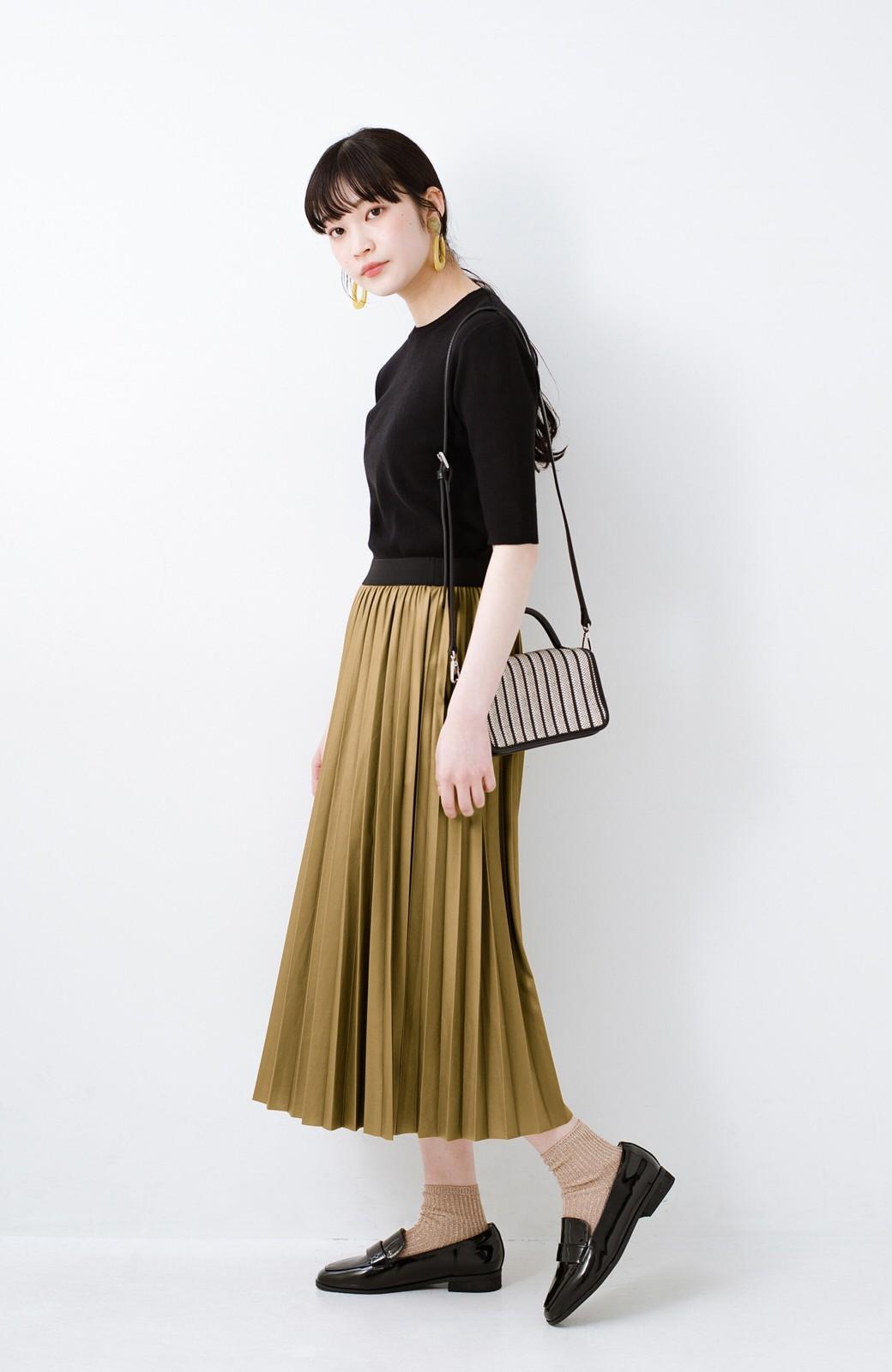 haco! コーデが一気に引き締まるフェイクレザー風プリーツスカート by laulea  <マスタード>の商品写真10